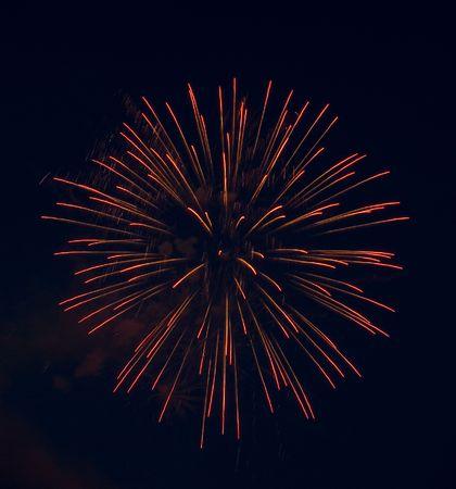 Good pink-yellow fireworks.