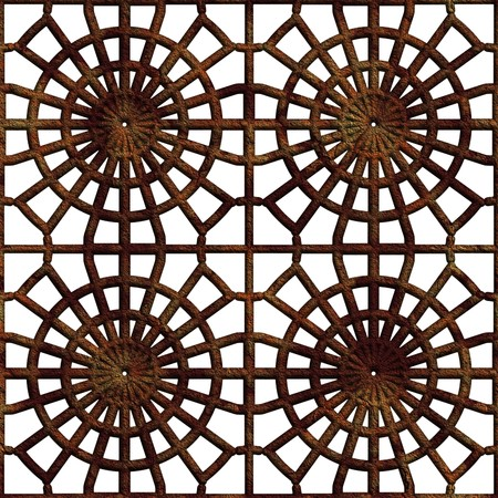 Seamless. Old rusty lattice. Best for replicate. Computer generated. Stock Photo