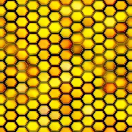Seamless. Honeycomb pattern. Computer generated. Best for repicate. Stock Photo - 4024596