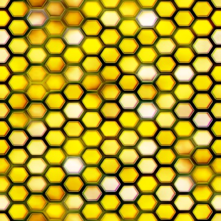 Seamless. Honeycomb pattern. Computer generated. Best for repicate. Stock Photo - 4035634
