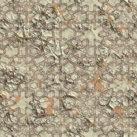 plasterwork: Seamless cracked decorative plasterwork. Good for replicate.