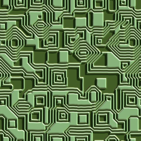 Seamless. Printed circuit texture close up. Good for replicate Stock Photo - 4083735