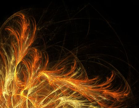 witchcraft: Fractal fire witchcraft. Computer generated pattern.