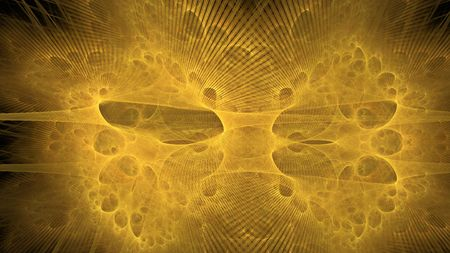 Abstract yellow fractal galaxy. Best for background with most small detail Stock Photo - 5228735