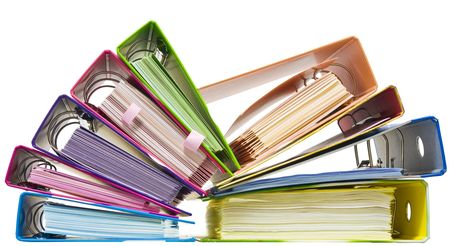 Isolated paper folders (documents, catalogs);  ring binder Stock Photo - 5935385