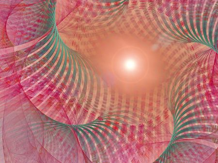 hyperspace: Sun in hyperspace. Fractal background. Good design for background (card or poster) Stock Photo