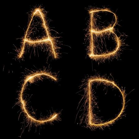 Alfabeto sparkler (ver otras letras en mi cartera). Todos los caracteres en mayúsculas.