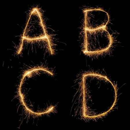 sparkler: Alphabet sparkler (see other letters in my portfolio). All  uppercase characters.