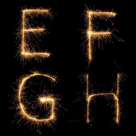 Alphabet sparkler (voir les autres lettres dans mon portefeuille). Tous les caractères en majuscules.