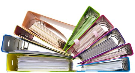 catalogs: Isolated paper folders (documents, catalogs);  ring binder Stock Photo