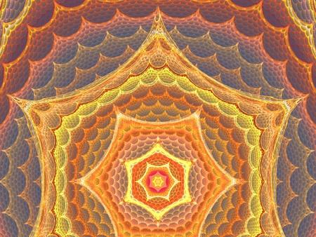 3d orange net hipnose pattern for backgrounds Stock Photo - 10849894