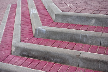 Stairs of colored tiles  Good for business background photo