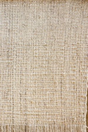 homespun: White old-fashioned rustic homespun cloth for background