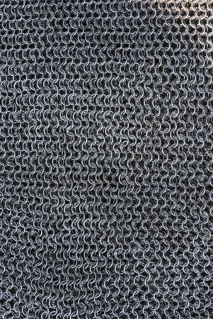 Real handmade chainmail texture close up Stock Photo
