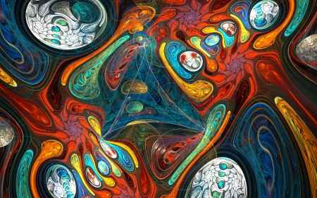 fractal: Fractal background with abstract shapes.  High detailed image.