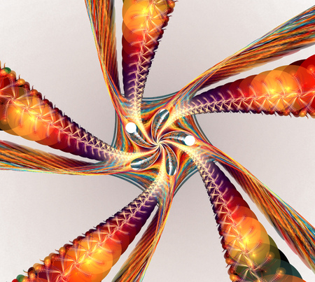 detailed image: Fractal background with abstract spiral shapes. High detailed image.