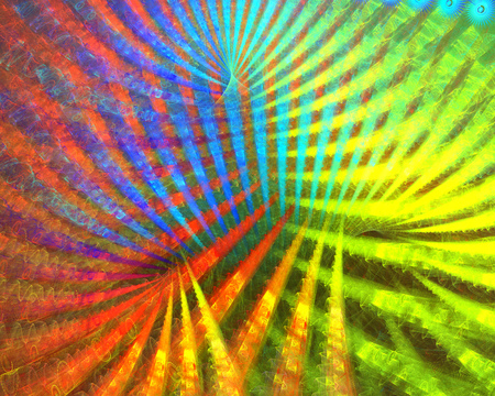 detailed image: Fractal background with abstract disco beam shapes.  High detailed image.