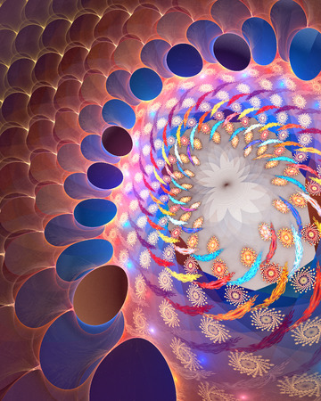 high detailed: Fractal background with abstract spiral. High detailed Stock Photo
