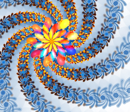 high detailed: Fractal background with abstract flower shapes. High detailed image.