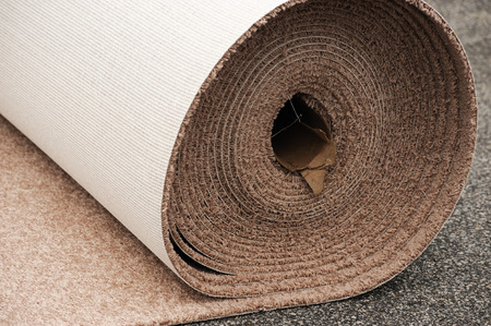 carpet roll Stock Photo