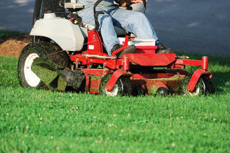 mowing the lawn Standard-Bild