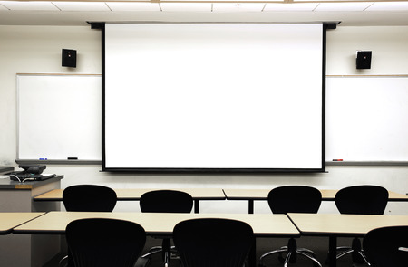 lecture: empty classroom
