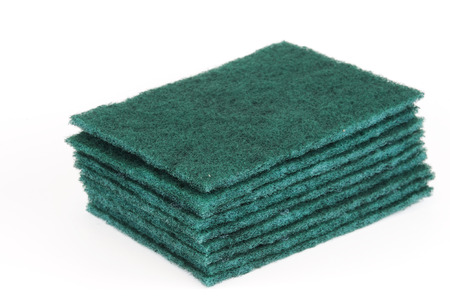 scouring: stacking scouring pad for kitchen cleaning