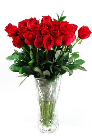 Roses rouges dans un vase Banque d'images - 50401874
