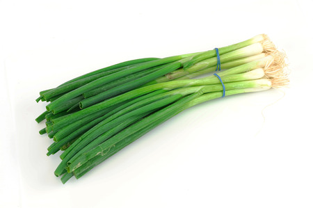 bunch of green onion Stock Photo