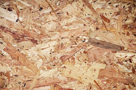 compressed: recycled compressed wood chippings board Stock Photo