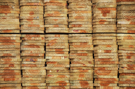joist: neatly stacked wood beam with texture and cross section as construction material