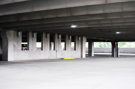 parking lot interior: empty parking lot interior