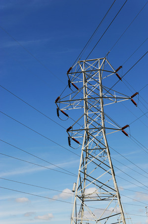 power tower: high voltage power tower Stock Photo