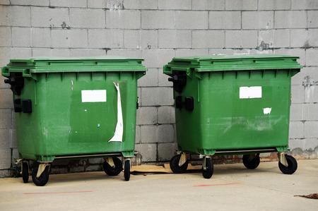 outdoor trash bins