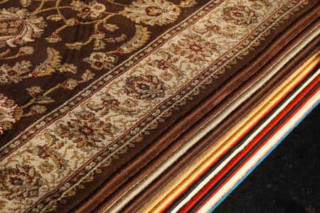 close up on stacking carpet