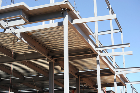 steel frame structure for building construction
