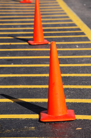 traffic   cones: traffic cones on the street
