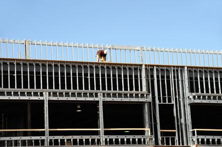 steel frame: steel frame structure for building construction