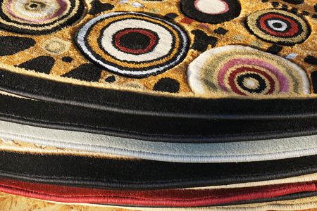 carpet and flooring: close up on stacking carpet