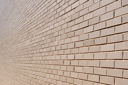 brick wall perspective view