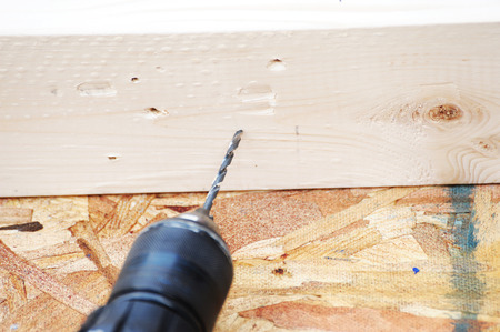 electric drill: work with electric drill