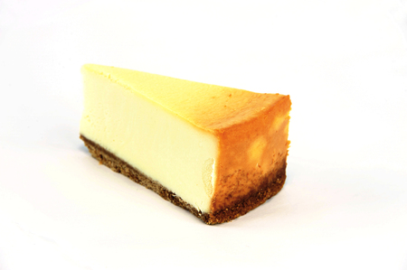 cheese cake slice isolated on white background