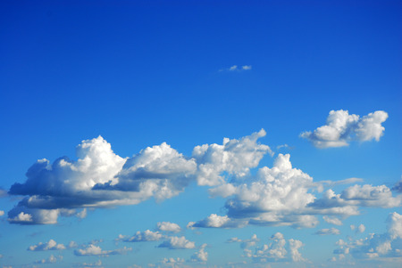 white cloud and blue sky as nature background