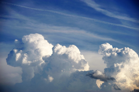 accumulating: cloud on the sky background, storm cloud accumulating in sky