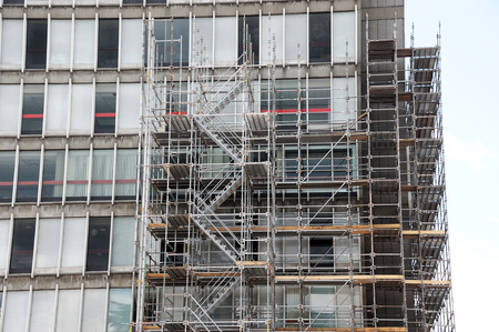 building construction and scaffold frame Imagens