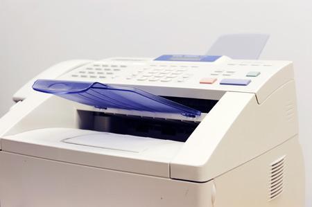 close up on fax machine Stock Photo