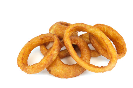 onion ring isolated on white background