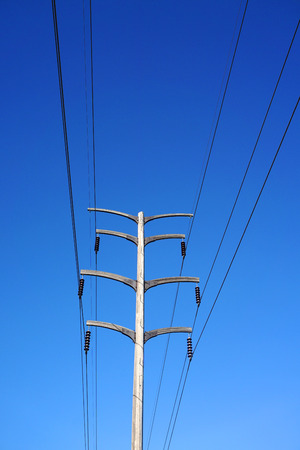 power tower: high voltage power tower and transmission line