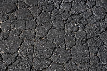 road surface: cracked asphalt road surface background