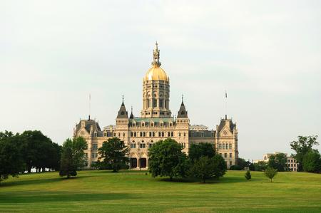 Hartford capitol building and public park